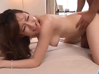 Staggering Chinese honey, Reon Otowa got down and muddy with her married neighbor next door