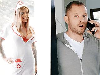 Nurse hardcore fuck merchandiser for jar of sperm