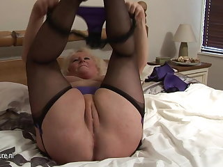 Big granny squirting unaffected by her borderline