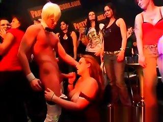 Horny teens at a strip club