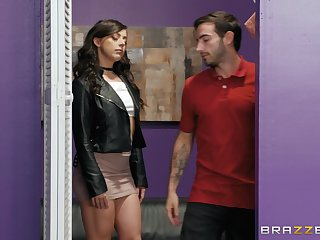 Horny submissive babe Whitney Wright throats and gets fucked doggy