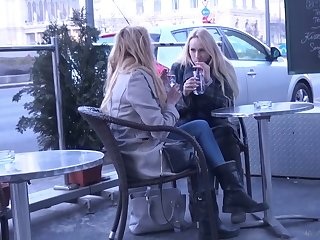 Two luscious Czech chicks are flavour of the month up and fucked firm by one horny dude