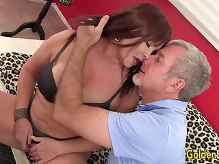 Of age Brunette Isabelle Love Gets Pounded Hard overwrought an Old Man