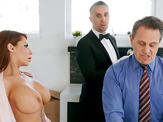 Sizzling butler is ready to anal fuck housewife