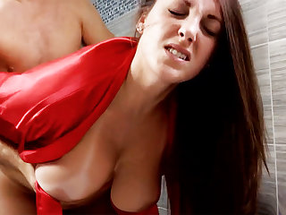 Piping hot schoolboy forcibly fuck busty stepmom