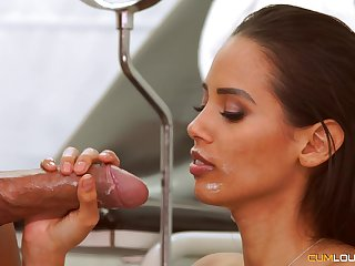 horny and enticing adulterate fucks young bombshell without mercy all day long
