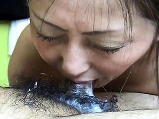 She of a piece with cum in mouth 19