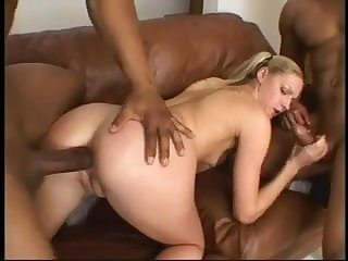 Ashley Pine Gets A BIG BLACK PENIS In Both Holes