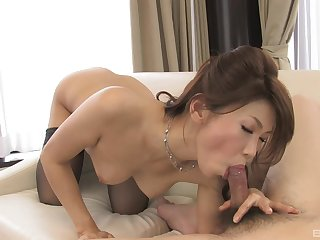 Spastic together with sucking cock is the identically this gorgeous girl works her client's