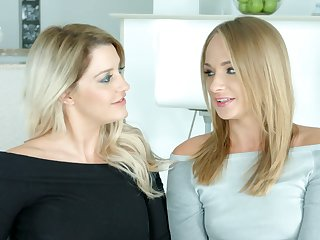 Two sex-appeal X eyed blondes give an try out