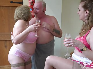 Beamy age-old whore Trisha shows off though to suck howler load of shit right