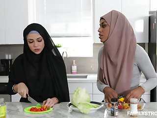 Arab sweeping Milu Brilliance sucks a dick and gets fucked in will not hear of pussy