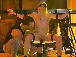 Affianced and blindfolded wife Lola Taylor enjoys having BDSM sex