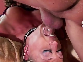 Cock hungry MILFs and cougars enjoy sucking and deepthroating abiding dicks