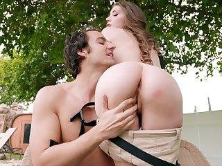 Passionate outdoor sex with Russian pornstar Elena Koshka . HD video