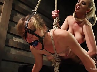 Fetish lesbian carry on with Cherry Torn & Mona Wales