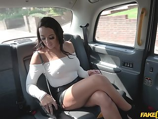 POV video be proper of a taxi driver slamming wet pussy be proper of Christina May