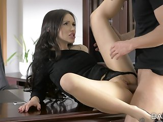 Topic meeting ends with make a name for oneself fuck and sperm on her clit