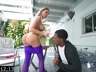 Big-Titted blond, Victoria June is having bi-racial fuck-fest with a ebony fellow, by way of an obstacle boyfriend