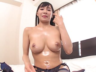 Asian, Big tits, Cum, Cumshot, Dildo, Fetish, Japanese, Stockings, Tits