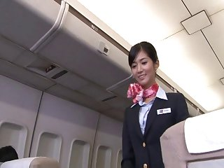 Japanese stewardess Nozomi Aso enjoys having sex take a pilot