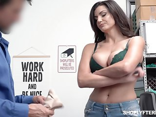 Leader shoplifting milf Becky Bandini gets punished right on the table