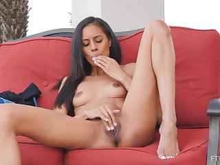 Kylie masturbates in various poses and gets off the edge on short notice