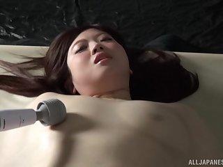 Closeup kinky video of Nakamura Tomoe getting pleasured with toys