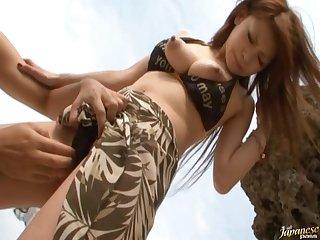 Nice tits Japanese chick Arisa Kuroki enjoys property fucked good