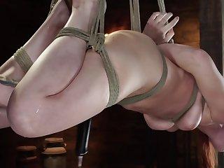Redhead slavegirl endures some intelligent bondage torture