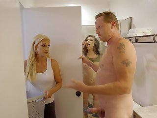 Serious inches and creampie with stepdaddy