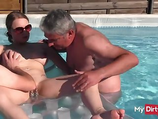 Underwater Sexual congress yon Pierced Teen