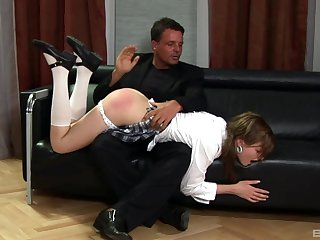 Slave girl Tarra White gets spanked added to fucked by her dominant hubby