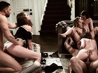 A nice group sex fun with insatiable bushwa loving nymphos