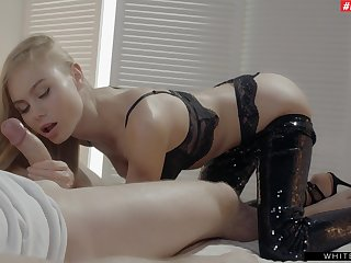 Erotic gender in the bedroom with gorgeous girlfriend Nancy A