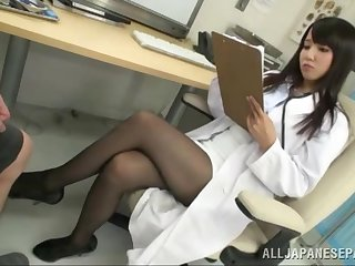 Japanese female doctor gets intimate with one patient
