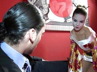 Bianca Casanova crippling high heels riding a dick in cowgirl